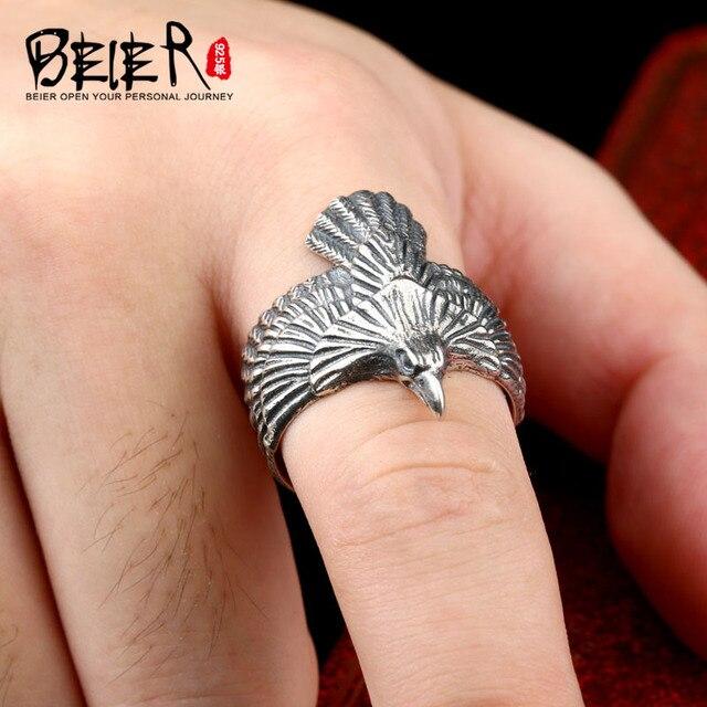 Beier new store100 % 925 bạc sterling animal vòng for phụ nữ/đàn ông cao chất lượng eagle jewelry br-sr001
