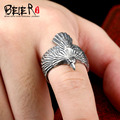 Beier new store100% 925 silver sterling animal ring for women/men high quality eagle  jewelry BR-SR001