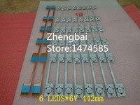 20 Pieces Lot Original New LED Backlight Bar Strip For KONKA KDL48JT618A 35018539 6 LEDS 6V