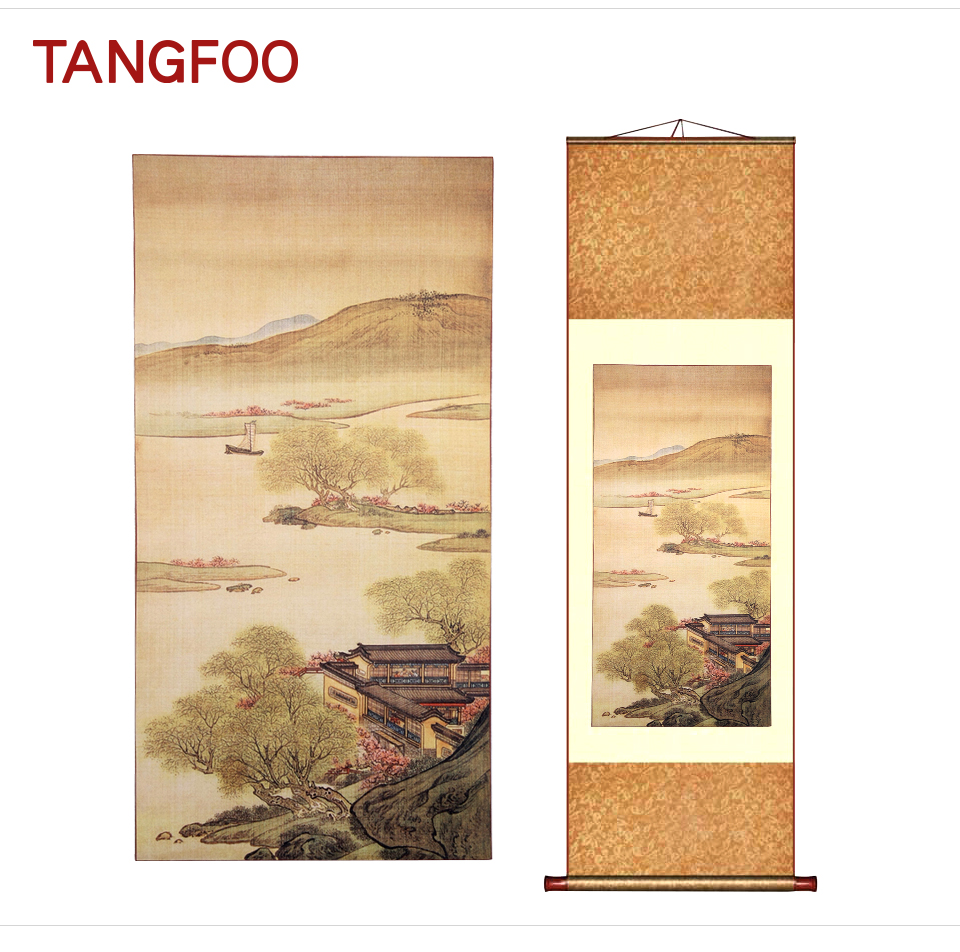 Home Decor Chinese Silk Scroll Painting Wall Picture Famous ...