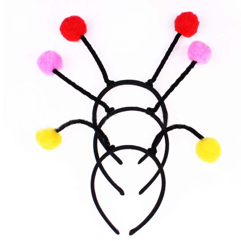 2018 Antenna Bug Headband Bee Ant Fly Ladybug Headwear Cosplay Props Childrens Day Party ...
