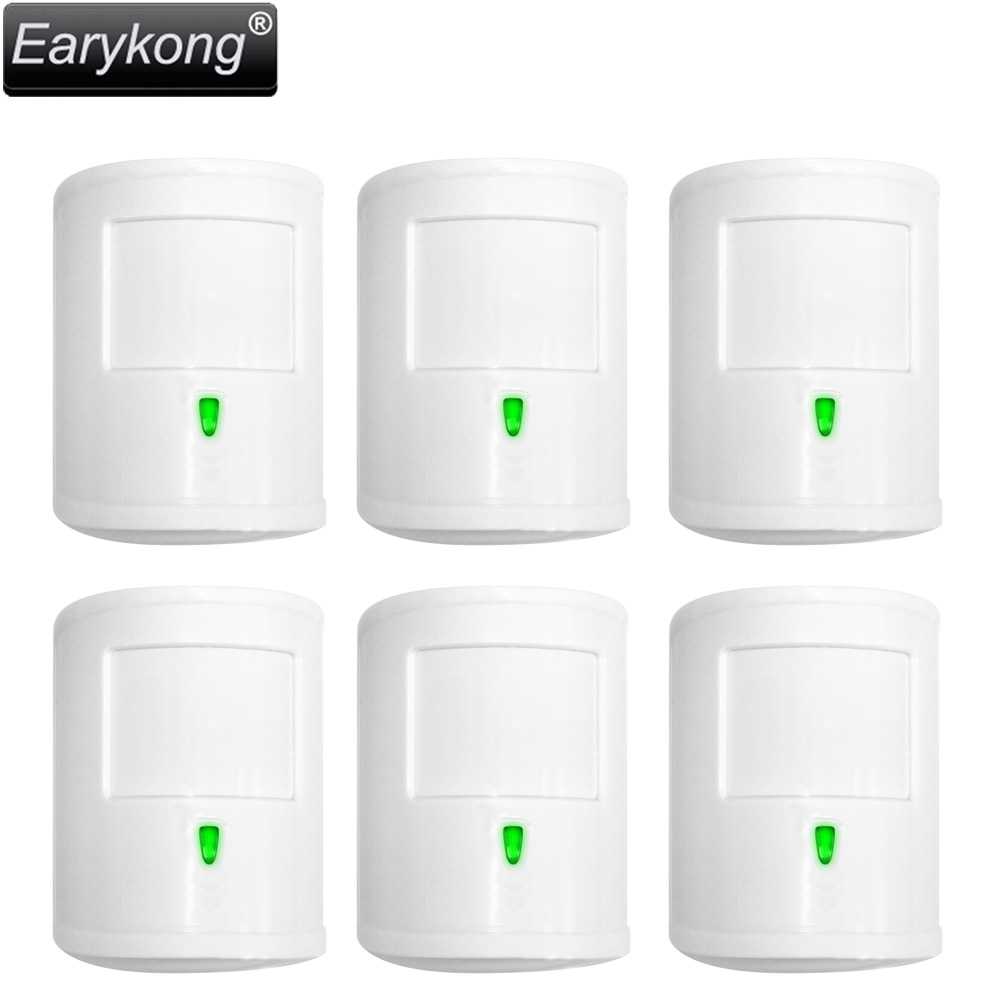 New Earykong Infrared PIR detector, 433MHz wireless work, For Home Burglar GSM alarm system wireless smoke fire detector for wireless for touch keypad panel wifi gsm home security burglar voice alarm system