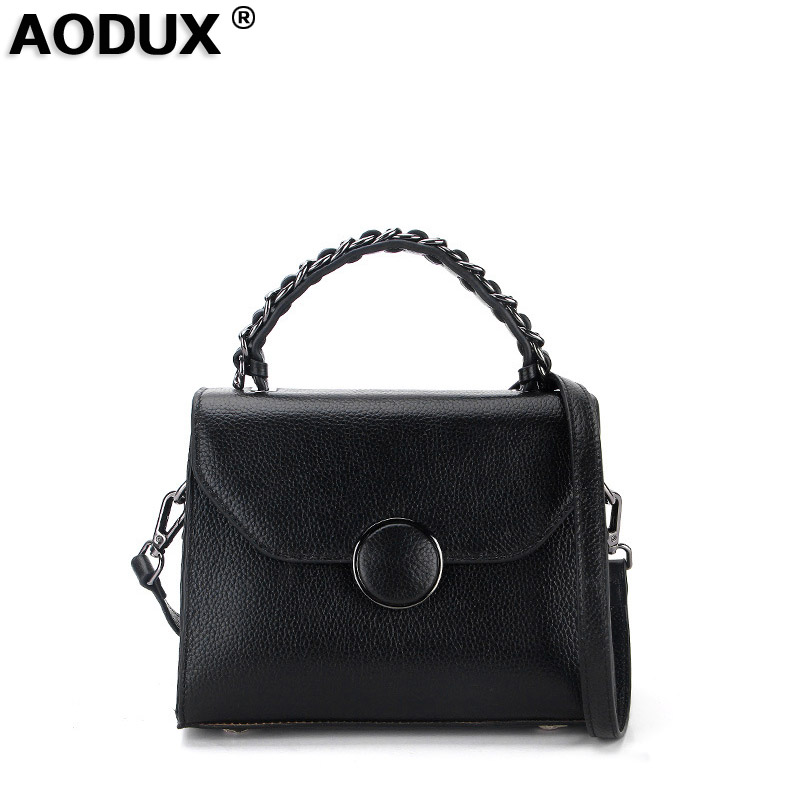 AODUX Designer Famous Brand 100% Real Genuine Leather Women Small Shoulder Tote Handbag Ladies Crossbody Messenger Bag Hobo Blso сумка через плечо famous designer brand genuine real leather tote bag 100