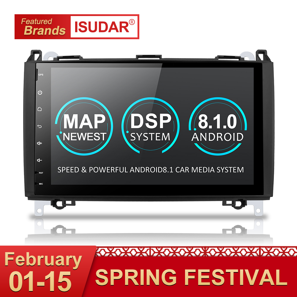 Isudar Car Multimedia Player GPS Android 8.1 2 Din DVD Automotivo Per Mercedes/Benz/Sprinter/Viano/ vito/B-class/B200/B180 Radio