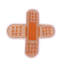 Funny Band-aid Pants Shoes Iron On Embroidered Patch Clothes Patches For Clothing Clothes Stickers Garment Apparel Accessories(China)