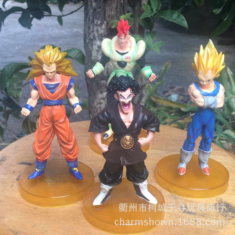 4 pçs/set Super Saiyan Dragon Ball Z Goku Vegeta Figura de Ação DO PVC brinquedos Coleção figuras brinquedos para presente de natal