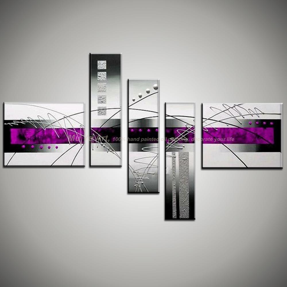 Muya 5 unidades del arte de la lona sin marco barato decorativo ...