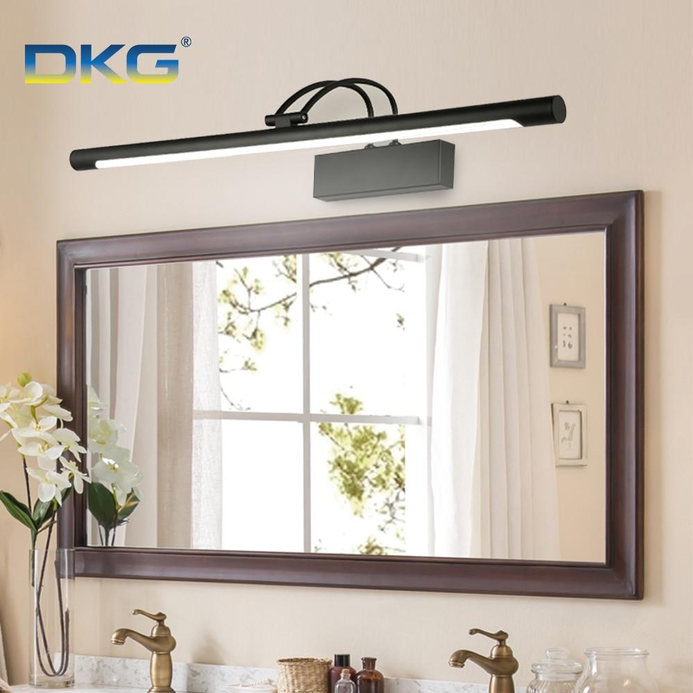 Modern Led Mirror Light Bathroom Wall Lamp 8W 12W Black Silver Shell 220V 110V Wall Mounted Vanity Llight Bathroom Waterproof(China)