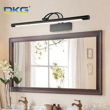 Modern Led Mirror Light Bathroom Wall Lamp 8W 12W Black Silver Shell 220V 110V Wall Mounted Vanity Llight Bathroom Waterproof(China)