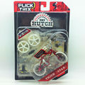 "Flick Trix Bmx Mini Finger Bike ""TRICK STAR"" Alloy model bikes with wheels trick bars display stand bonus stickers and tools"