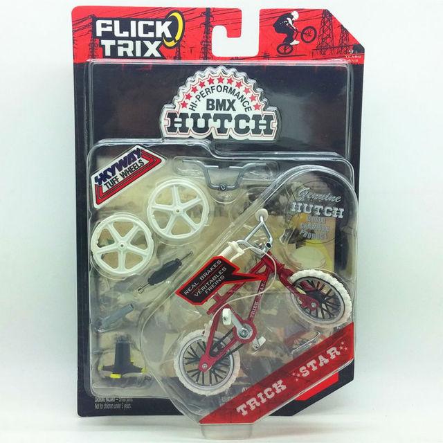 """Flick Trix Bmx Mini Finger Bike """"TRUCO ESTRELLA"""" modelo de aleación de barras de soporte de exhibición de bicicletas con ruedas truco bonus pegatinas y herramientas"""