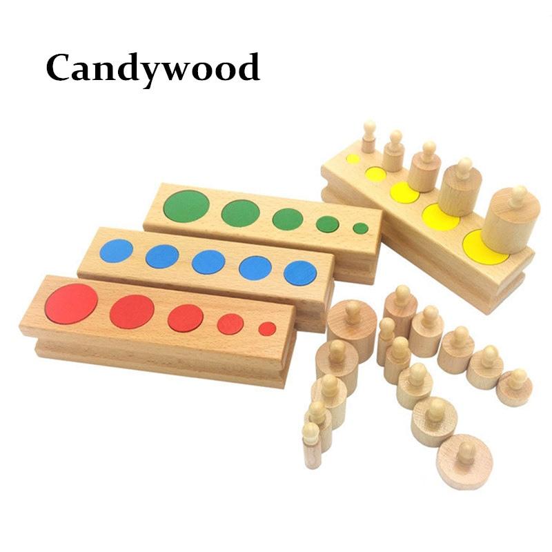 Fejlett Montessori Anyagok Színes Aljzat henger Óvodai Szellemi - Építőjátékok