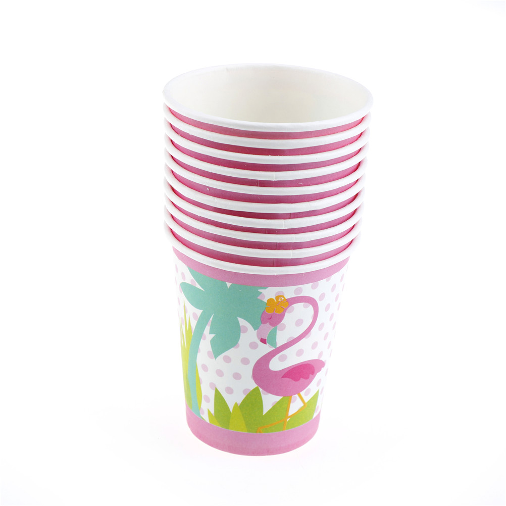10PCS/LOT Flamingo Theme Paper Cup KIDS Home Tableware BIRTHDAY ...