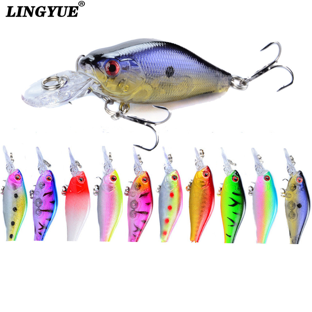 1pcs small crankbaits 7cm hard artificial bait 8g floating minnow wobblers fishing lures