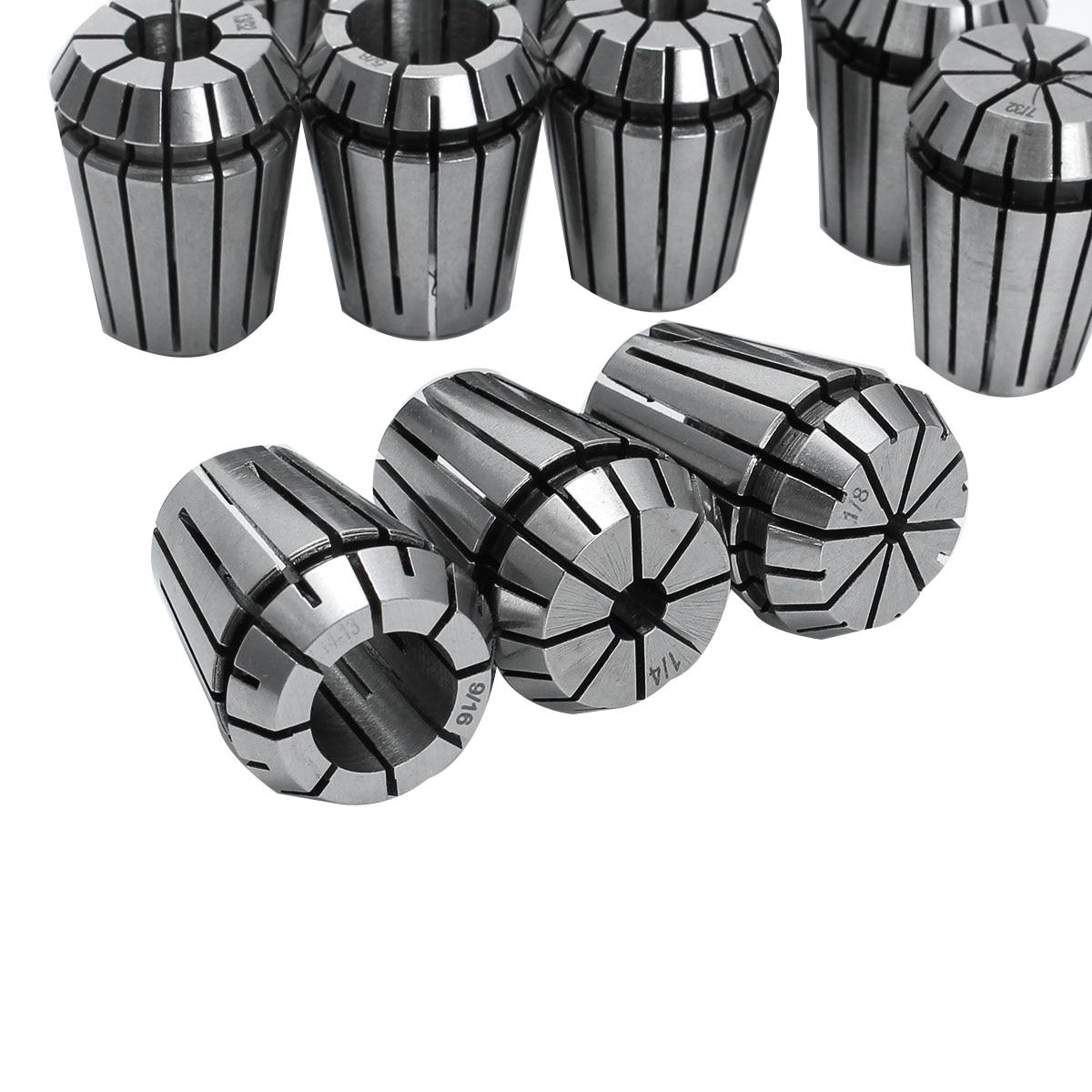 12X ER16 Spring Collet Set 1//32-3//8 CNC Milling Lathe 1//32 5//32 7//32 9//32 3//8 US