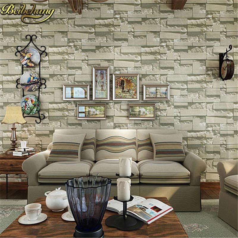 Beibehang papel parede papel mural européen brique papier peint projet 3D stéréo papier peint décoration de la maison PVC papier peint
