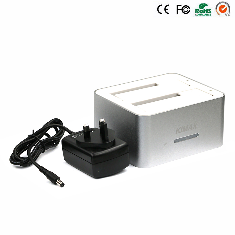 1 Piece only sata to usb case hd caddy usb 3.0 enclosure box for the hard disk 6TB reading capacity usb docking station 2 bay
