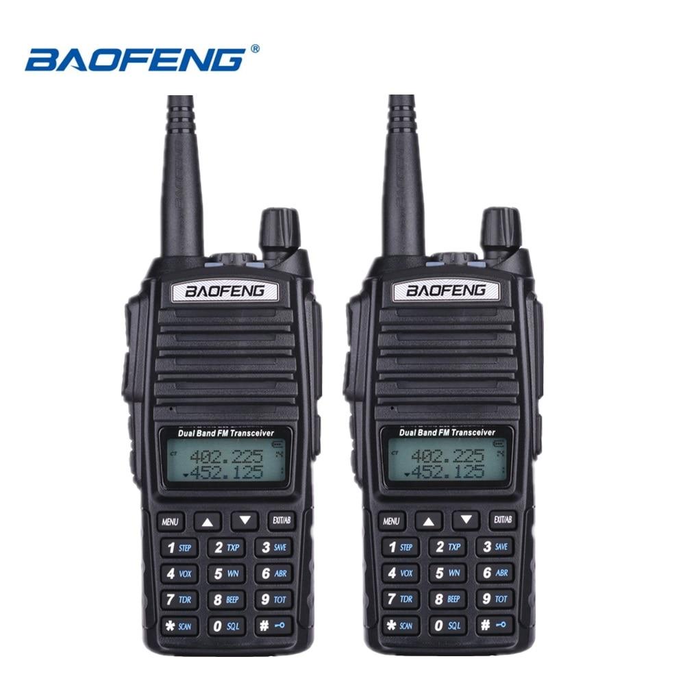 2 pcs BaoFeng UV-82 Talkie Walkie 10 km Dual Band 136-174/400-520 mhz FM Ham Two Way radio UV82 CB Ham Radio Hf Émetteur-Récepteur UV 82