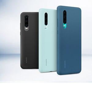Image 2 - Original Huawei P30 P30 Pro กรณี HUAWEI อย่างเป็นทางการ Liquid ซิลิโคนป้องกันไมโครไฟเบอร์ด้านใน Huawei P 30 P 30Pro กรณี