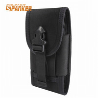Tactical Molle Cell Phone Pouch Smart Phone Holder Nylon Buckle Waist Pouch Belt Armband Case Outdoor