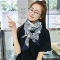 Moda feminina longa e fina de Algodão impressão Poliéster Scarf shawl enrole Grande Bonito Senhoras Chiffon lenços de seda