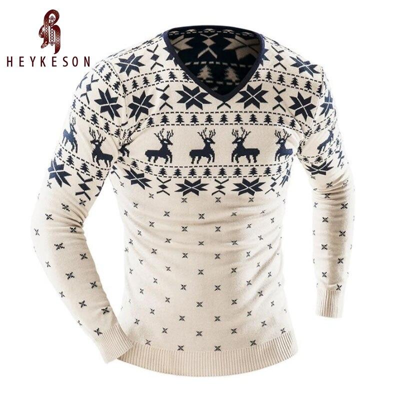 Heykeson 2018 Для мужчин модные животных печати свитер Для мужчин для Отдыха Slim v-образным вырезом с длинными рукавами Однотонный свитер Для Мужчин xxl Ю.