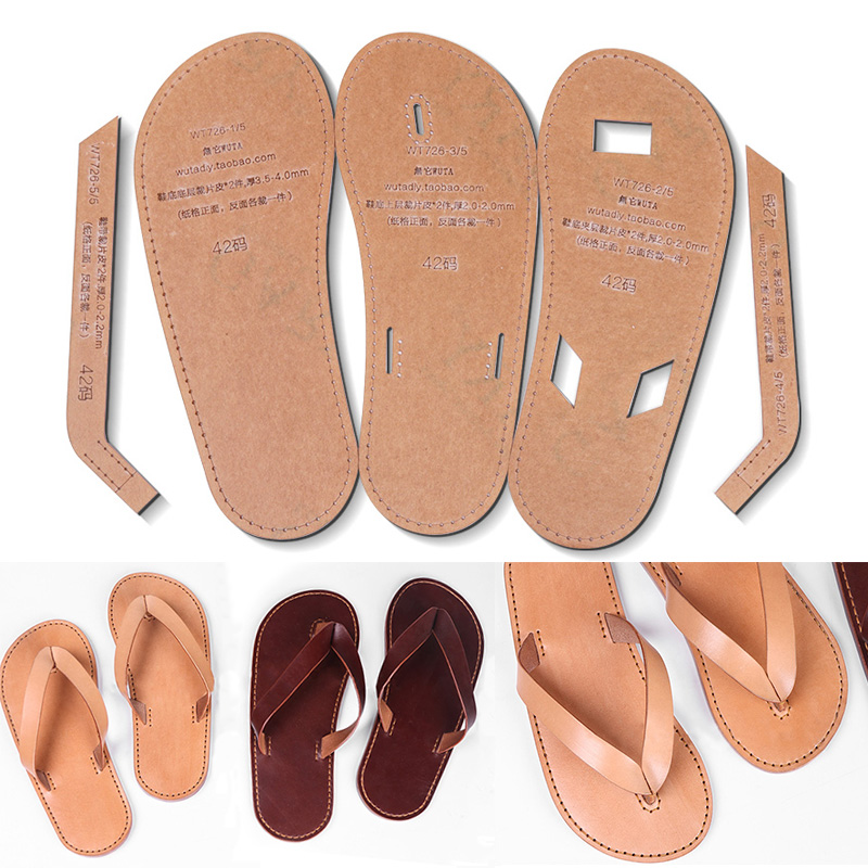 WUTA 726 Clear Acrylic Template For DIY Men Flops Unisex Slipper Shoes Leather Template Set Craft Pattern Model