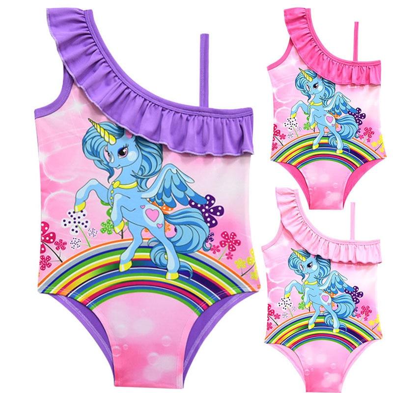 e1aef6c2f46da Aliexpress.com   Buy 2018 Unicorn Girls Swimsuit One Piece 2 10 ...