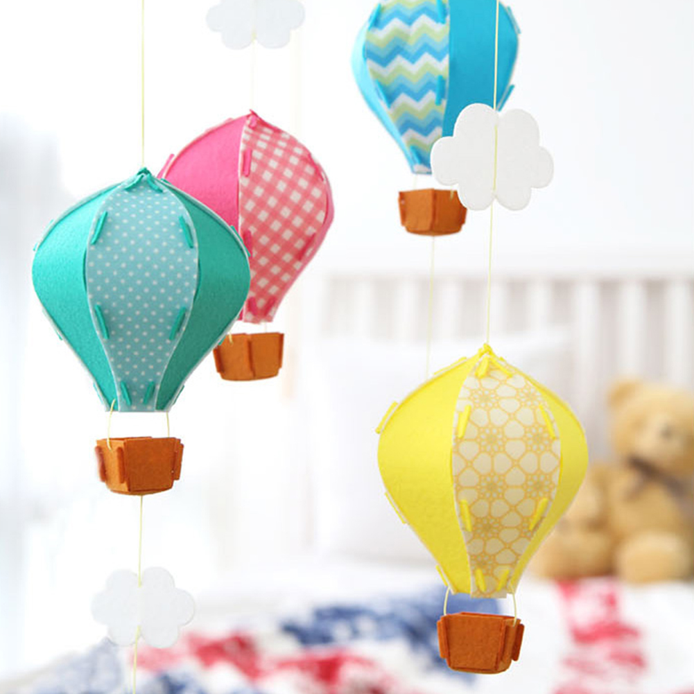 Hot Air Balloon Decorations Felt Ceiling Hanging Garland