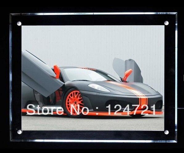A2 Size Acrylic LED Poster Frames Slim Crystal Light Box