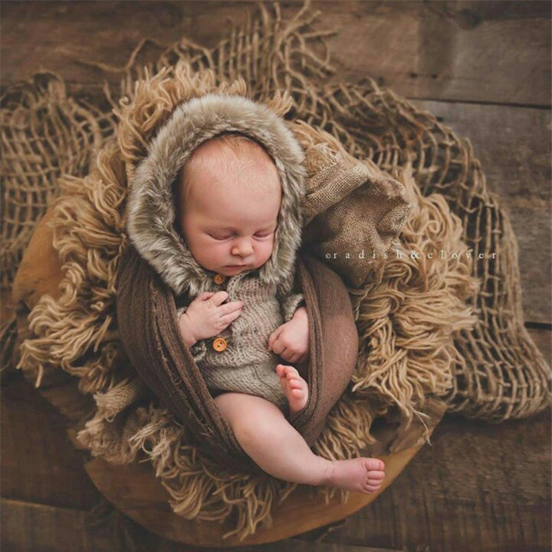 Новорожденный джутовый слой фотографии реквизит, джутовое одеяло для детской фотографии реквизит-in Купальная простынка from Мать и ребенок on AliExpress