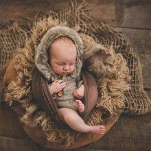 Rekwizyty fotograficzne noworodka z juty, koc jutowy na rekwizyty fotograficzne dla dzieci