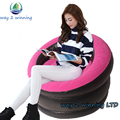2016 High Quality Flocking Outdoor Fun&Sports Inflatable Toy Air Sofa Camping Sleep Bed Bag Lounger Laybag Pink Red  Bolsa