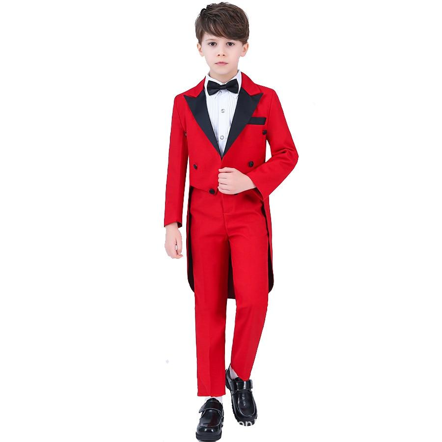 Blazer vestes + gilet + chemise + pantalon garçons quatre pièces ensembles robe formelle costumes de smoking garçons Costume de mariage fête formelle enfants tenues