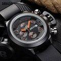 2016 Moda MEGIR Chronograph Mens Relógios de Pulso Banda de Silicone Esporte De Quartzo Watchwith Calendário À Prova D' Água para o Homem de Luxo Hora
