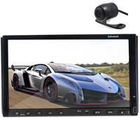 Son yükseltme 7 inç 2 DIN Sürgülü Dokunmatik Car DVD player GPS Navigasyon bluetooth Araç Stereo player + GPS Harita kart + Kamera