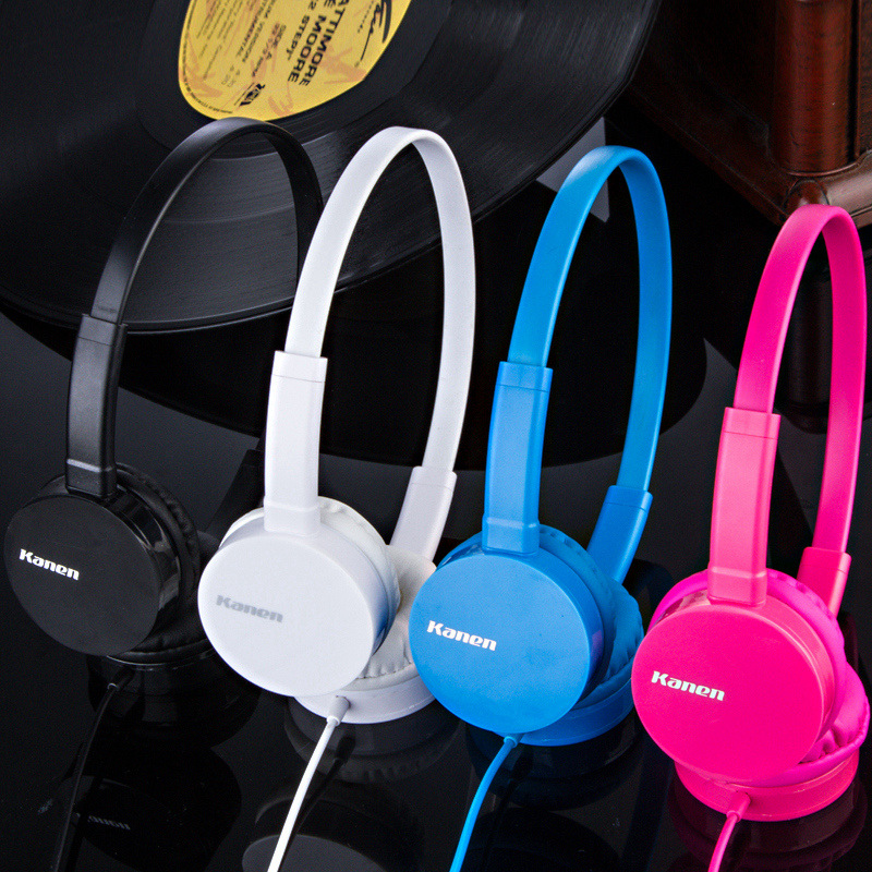 kanen ip600 Over Head Boys Girls Kids Children Teens STEREO Headband Headphones Headset With Mic For