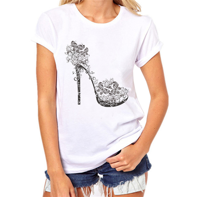 ebe79124fbe Fashion Women Girls Lady Casual Butterfly Print Short Sleeve Cotton Slim Top  Shirts Plus size Rhinestone Price Lucky Jun 13-in T-Shirts from Women s ...