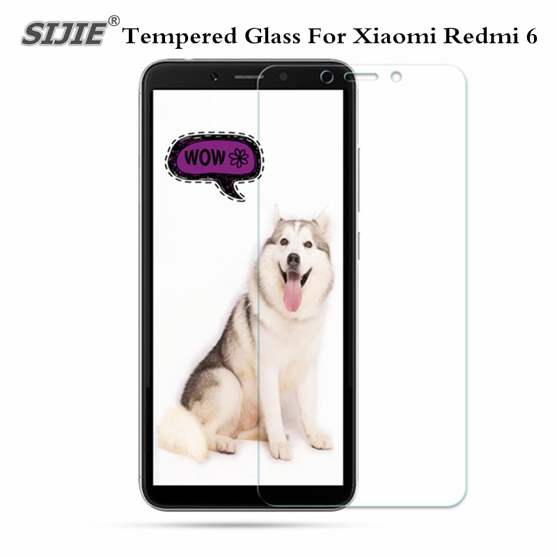 Tempered Glass For <font><b>Xiaomi</b></font> <font><b>Xiaomi</b></font> Redmi 6 3GB <font><b>64GB</b></font> MTK <font><b>Smartphone</b></font> Global Version 5.45'' Screen Protector Film Protective case image