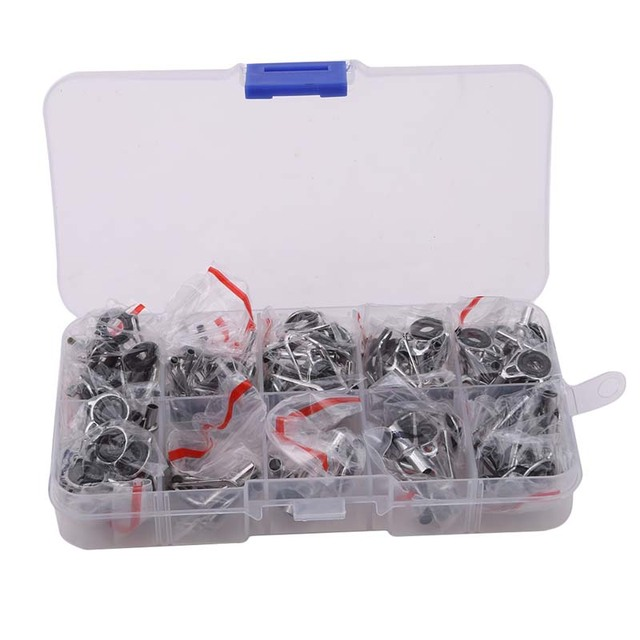 80Pcs Fishing Rod Guides Tip Set Repair Kit with Fish Box Kit DIY ...
