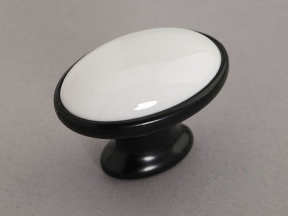 Ceramic Cabinet Door Knobs  Dresser Knob Drawer Knobs Pulls Handles White Black  French