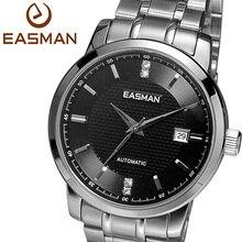 Easman часы мужчины бизнес автоматические механические часы мужчины роскошные марка алмаз наручные часы черный для работы мужчины часы подарки