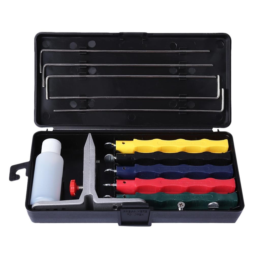 Knife Sharpener Kit 5 Stone Whetstone Sharpen System Grindstone Kitchen Tool Household Knife Sharpeners Multi tools