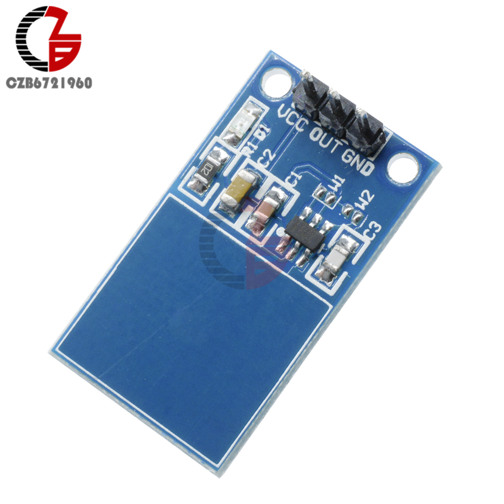 Dc 12v Capacitive Touch Sensor Switch Coil Spring Led Dimmer Module Ttp223 Key Digital For Arduino