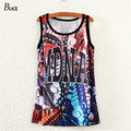 BLACK Brand Hot Summer Tank Top Punk Letter Splice Print Tops Shirt Women Tank Tops Casual Shirt Harajuku Singlet Vest