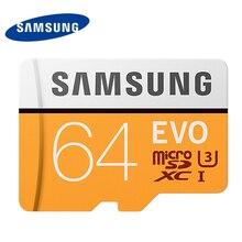 Samsung U3 карты памяти 64 ГБ R100M/S SDXC Micro SD карты Class10 UHS-I флэш-карт памяти microsd для планшетных смартфон