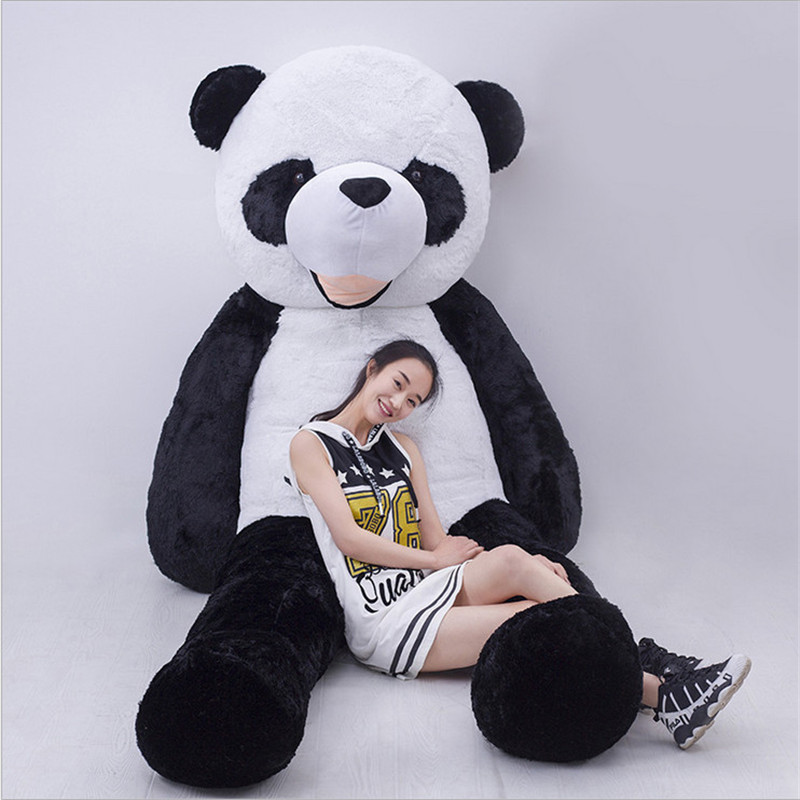 2017 Stuffed Animals New Kawaii Super Large Panda Doll Black and White Giant Panda Toys for Children Juguetes Brinquedos fancytrader new style giant plush stuffed kids toys lovely rubber duck 39 100cm yellow rubber duck free shipping ft90122