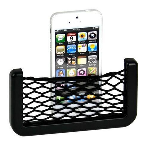 organizador coche Universal Car Seat Side Back Storage car accessories Net Bag Phone Holder Pocket Organizer Black