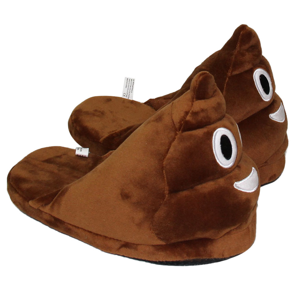 Poop Emoji Slippers 3