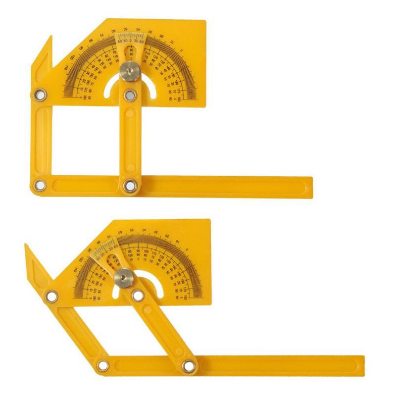 180 Degree Multi use Angle izer Protractor Template Tool Ruler Articulating Arms Folding Ruler font b